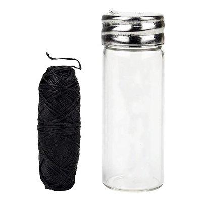 OrganiBrush Charcaol Flosdraad In Glazen Potje, Fluoridevrij, 1 Stuk