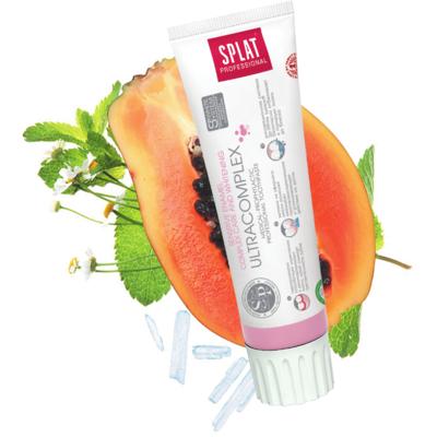 Splat Professional Ultracomplex tandpasta, Fluoridevrij, Voor gevoelige Tanden, Vegan, 100ml