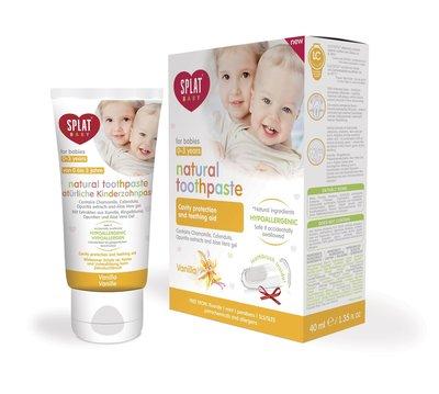 Splat Baby Vanille Tandpasta, 0-3 jaar, Fluoridevrij, Hypoallergeen, 40ml