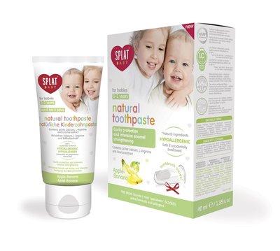 Splat Baby Appel-Banaan Tandpasta, 0-3 jaar, Fluoridevrij, Hypoallergeen, 40ml